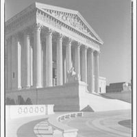 U.S. Supreme Court exteriors. Front portico of U.S. Supreme Court from left I