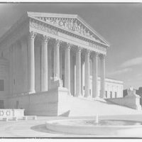 U.S. Supreme Court exteriors. Front portico of U.S. Supreme Court from left III