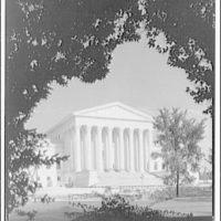 U.S. Supreme Court exteriors. Main portico of U.S. Supreme Court II