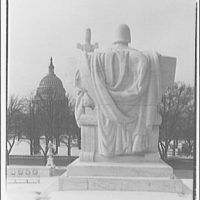 U.S. Supreme Court exteriors. Statue of Execution of Law at U.S. Supreme Court, rear view II
