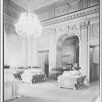 U.S. Supreme Court interiors. Corner of library in U.S. Supreme Court
