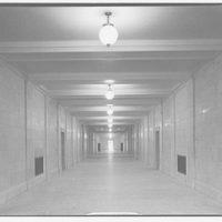 U.S. Supreme Court interiors. Long corridor, U.S. Supreme Court I