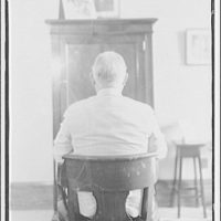 Vice President John Nance Garner. Vice President John Nance Garner seated with back to camera