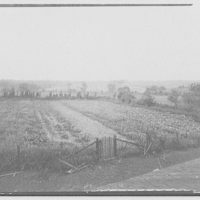 Waldorf, Maryland and vicinity. Field with gate in foreground