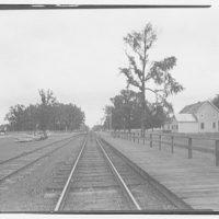 Waldorf, Maryland and vicinity. Railroad tracks and platform