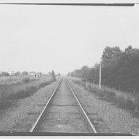 Waldorf, Maryland and vicinity. View down railroad tracks I