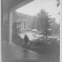 Wardman Park Hotel. View of patio from porch of Wardman Park Hotel