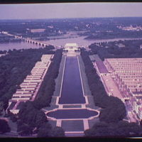 Washington, D.C. views. View of Mall and beyond from Washington Monument II