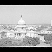 Washington, D.C. views. View of the U.S. Capitol and beyond, showing the Mall and the Washington Monument