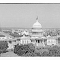Washington, D.C. views. View of the U.S. Capitol and beyond, showing the Mall and the Washington Monument III