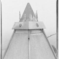 Washington Monument. Aluminum cap of Washington Monument with lightning rods IV