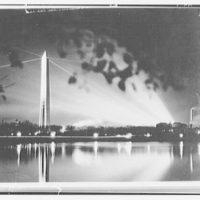 Washington Monument. Night view of Washington Monument from across tidal basin