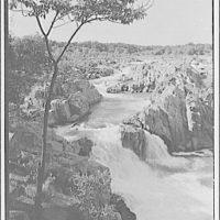 Water scenes, Great Falls, Virginia. View of Great Falls I