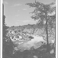 Water scenes, Great Falls, Virginia. View of Great Falls III