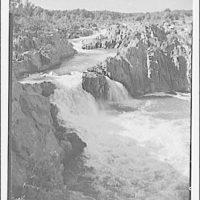Water scenes, Great Falls, Virginia. View of Great Falls V