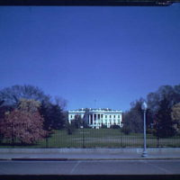 White House exteriors. South side of White House I