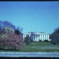 White House exteriors. South side of White House IV