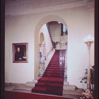 White House interiors. Grand staircase in White House I