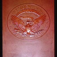 White House interiors. President's seal I