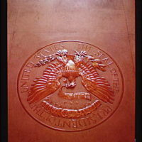 White House interiors. President's seal II