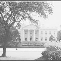 White House. White House from Lafayette Square