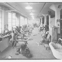 Woodward & Lothrop. Views inside of Woodward & Lothrop factory X