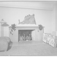 Yerkes home in Georgetown. Living room in Yerkes home with fireplace