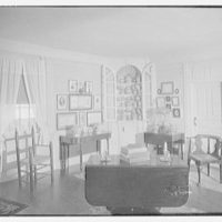 G.H. Buek, residence in East Hampton. Corner cupboard