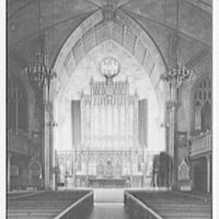 Presbyterian Church, 5th Ave. and 12th St., New York, New York. Chancel from center aisle