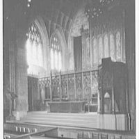 Presbyterian Church, 5th Ave. and 12th St., New York, New York. Chancel from right