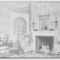Marshall Field, residence in Huntington, Long Island, New York. Boudoir fireplace, natural light