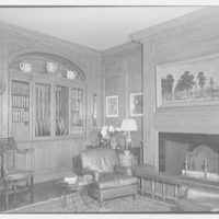 Marshall Field, residence in Huntington, Long Island, New York. Gun room, toward gun case