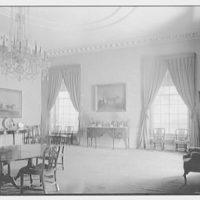 Marshall Field, residence in Huntington, Long Island, New York. North windows and wall, dining room