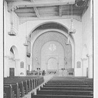 Park Ave. M.E. Church, Park Ave. at 86th St., New York, New York. Vertical interior from entrance