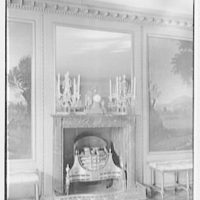 Frederick B. Patterson, residence, Far Hills, Oakwood, Dayton, Ohio. Fireplace detail, dining room