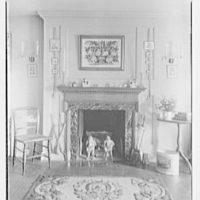 Geraldyn L. Redmond, residence in Brookville, Long Island, New York. Detail of bedroom fireplace