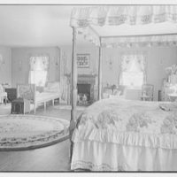 Geraldyn L. Redmond, residence in Brookville, Long Island, New York. General view of bedroom