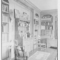 Geraldyn L. Redmond, residence in Brookville, Long Island, New York. Vertical detail of cabinet and pewter
