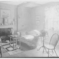 Geraldyn L. Redmond, residence in Brookville, Long Island, New York. Window and fireplace in tap room