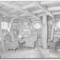 Walter Seligman, residence in Sands Point, Long Island, New York. Porthole windows in ship room