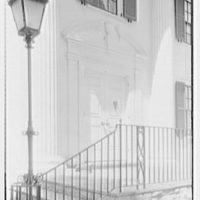 W.L. Sporborg, residence at 105 Sedgewick Dr., Syracuse, New York. Vertical detail of entrance