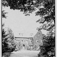 Charles Reed, residence in Tuxedo Park, New York. Vista from entrance drive