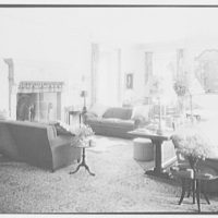 E. Roland Harriman, residence in Arden, New York. General view of living room