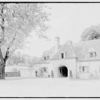E. Roland Harriman, residence in Arden, New York. Sycamore and service wing