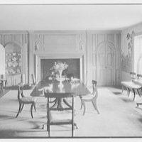 Geraldyn L. Redmond, residence in Brookville, Long Island, New York. Dining room