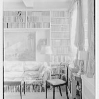 Mrs. Emily Price Post, residence at 39 E. 79th St., New York City. Sofa, painting and window