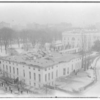 White House. View of White House after roof burned Christmas Eve 1929