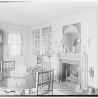 Mrs. Frederick Havemeyer, residence at 16 Sutton Square, New York, New York. Dining room, toward fireplace