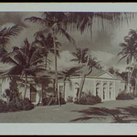 Palm Beach : architecture and gardens. Residence at 1860 S. Ocean Blvd., exterior front view