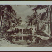 Palm Beach : architecture and gardens. Residence at 1860 S. Ocean Blvd., pool and patio